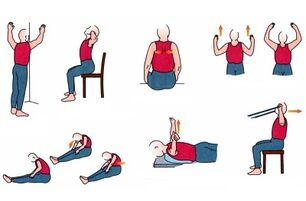 physical exercise for chest osteochondrosis